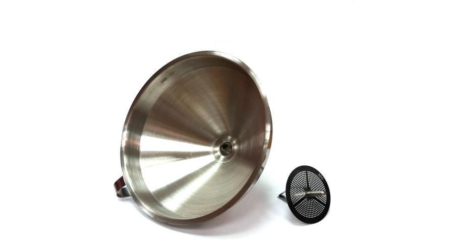 Воронка с фильтром, нержавейка, 150 мм