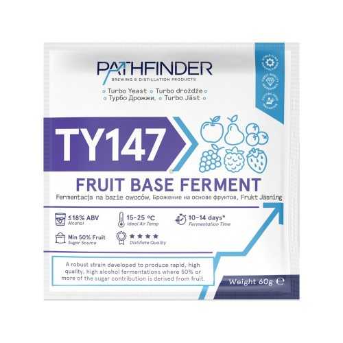 Дрожжи спиртовые Pathfinder TY147 Fruit Base Ferment, 120 гр