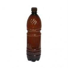Бутылка ПЭТ коричневая с крышкой 0,5 литра