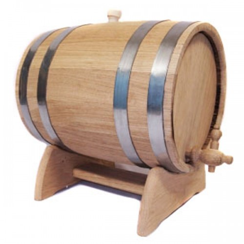 Бочка дубовая на подставке с краном 15 литров