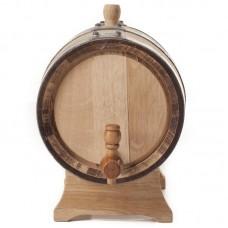 Бочка из кавказского скального дуба на подставке 5 литров