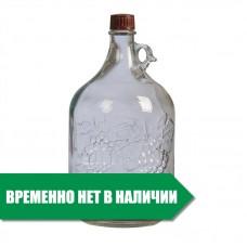 """Бутылка стеклянная """"Лоза"""" 5 л."""
