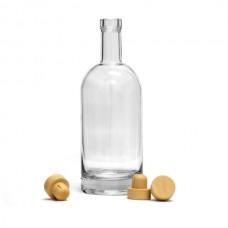 Бутылка 1 л. ПУЗЫРЬ с широким горлом с пробкой