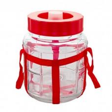 Банка стеклянная с гидрозатвором 9, 18, 25 литров