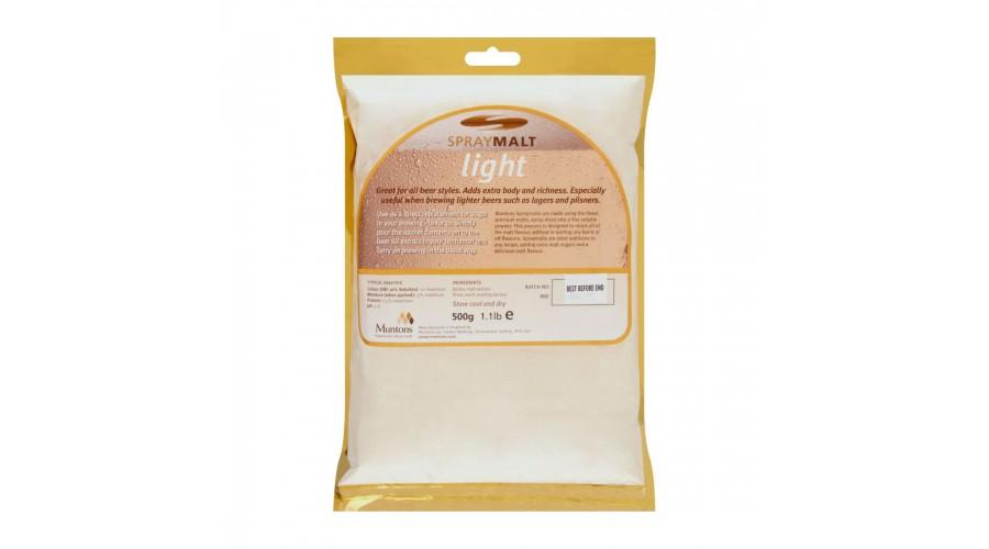 Сухой неохмеленный солодовый экстракт Muntons Light 0,5 кг