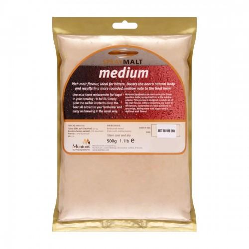 Сухой неохмеленный солодовый экстракт Muntons Medium 0,5 кг