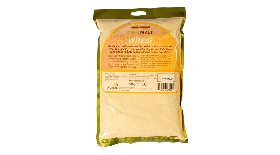 Сухой неохмеленный солодовый экстракт Muntons Wheat 0,5 кг