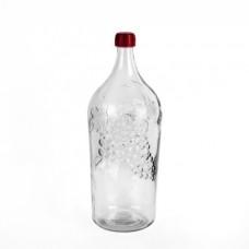 """Бутылка стеклянная """"Виноград"""" 2 л."""