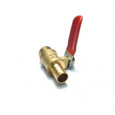 Кран врезной 1/4 с насадкой для шланга 10 мм