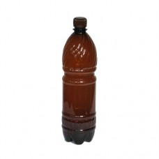 Бутылка ПЭТ пластиковая коричневая с крышкой 0,5 литра