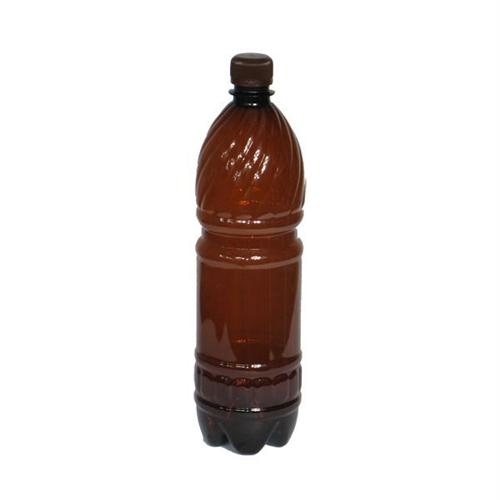 Бутылка ПЭТ пластиковая коричневая с крышкой 1 литр