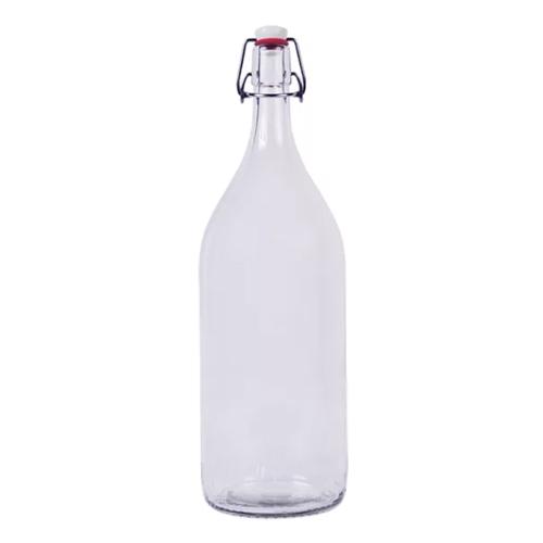 Бутылка с бугельной пробкой 2 литр прозрачная