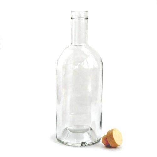 Бутылка 1 л. ПУЗЫРЬ  с пробкой и широким горлом