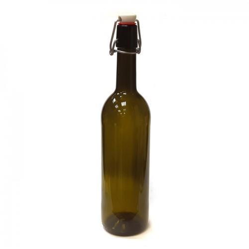 Бутылка с бугельной пробкой 0,75 л. винная