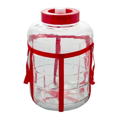 Банка стеклянная с гидрозатвором 25 литров